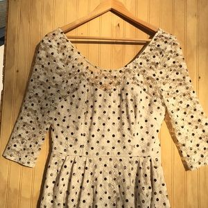 Betsey Johnson dress polka dots on lace